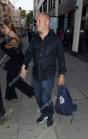 Editorial photo of Samantha Womack and Robert Rinder out and about, London, UK - 03 Aug 2020