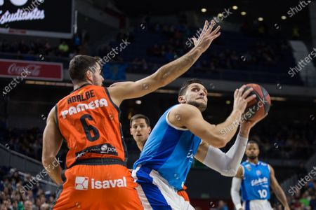 Alessandro Gentile during Valencia Basket Club victory over Movistar Estudiantes (79 -83) in Liga Endesa regular season game (day 13) celebrated in Madrid (Spain) at Wizink Center. December 23th 2018.
