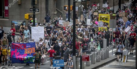Coalition of teachers, students, and families protest during a rally called National Day of Resistance Against Unsafe School Reopening Opening, in New York. Organizers said New York Governor Andrew Cuomo, New York Mayor Bill DeBlasio, Chancellor Richard Carranza, and the Department of Education must stop the in-person reopening of schools until it is safe for all
