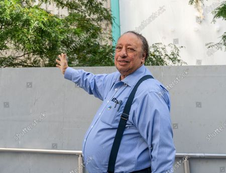 Stock Image of John Catsimatidis attends ceremony for resumption of construction of St. Nicholas Church at World Trade Center. The Saint Nicholas Greek Orthodox Church and National Shrine was completely destroyed in the 9/11 terrorist attack in 2001. After a three-year hiatus the construciton resume when Friends of St. Nicholas collected enogh donations to pay for rebuilding.