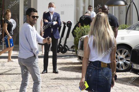 Stock Photo of Jamel Debbouze arrives at Hotel Martinez