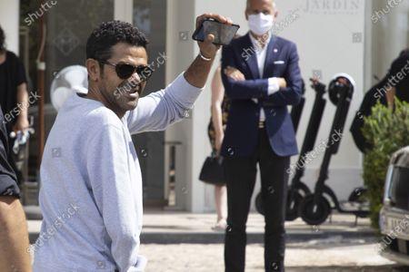 Jamel Debbouze arrives at Hotel Martinez
