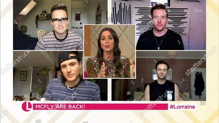 Stock Image of Christine Lampard, Tom Fletcher, Danny Jones, Dougie Poynter, Harry Judd