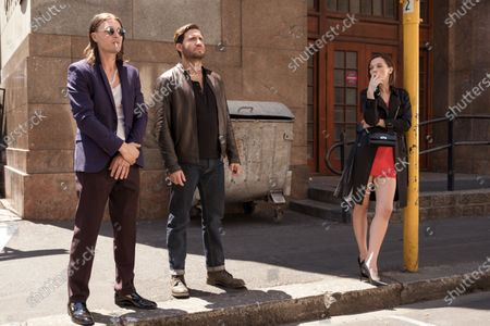 Michael Pitt as Kevin Cash, Edgar Ramirez as Graham Bricke and Anna Brewster as Shelby Dupree