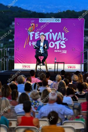 Stock Image of Richard Berry reads at the Festival des Mots