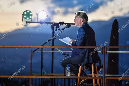 Stock Picture of Richard Berry reads at the Festival des Mots