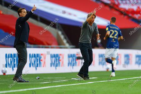 Fulham Manager Scott Parker and Brentford Manager Thomas Frank
