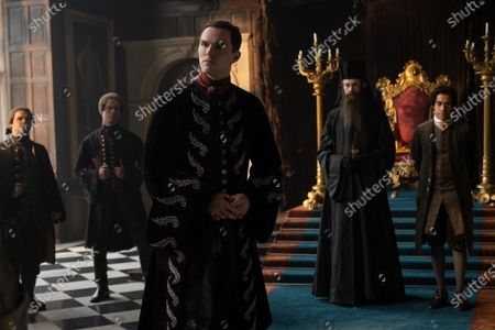 Nicholas Hoult as Peter, Adam Godley as Archbishop and Sacha Dhawan as Orlo