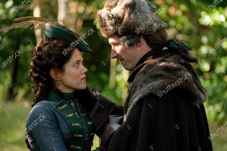Charity Wakefield as Georgina and Gwilym Lee as Grigor Dymov