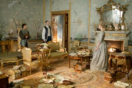 Sebastian de Souza as Leo, Nicholas Hoult as Peter and Elle Fanning as Catherine