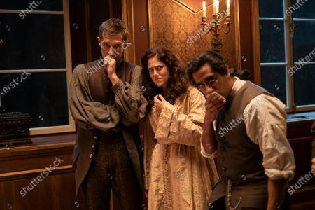 Gwilym Lee as Grigor Dymov, Charity Wakefield as Georgina and Sacha Dhawan as Orlo