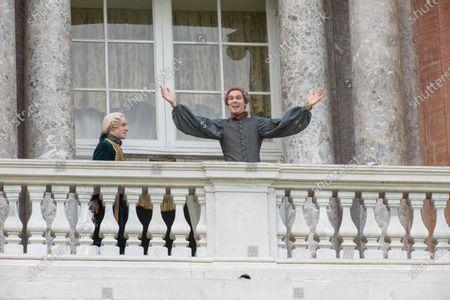 Louis Hynes as Vlad and Nicholas Hoult as Peter