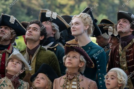 Stock Picture of Sebastian de Souza as Leo and Elle Fanning as Catherine