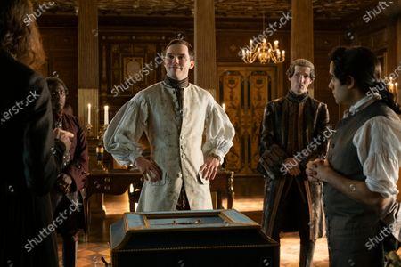 Stock Photo of Bayo Gbadamosi as Arkady, Nicholas Hoult as Peter, Gwilym Lee as Grigor Dymov and Sacha Dhawan as Orlo
