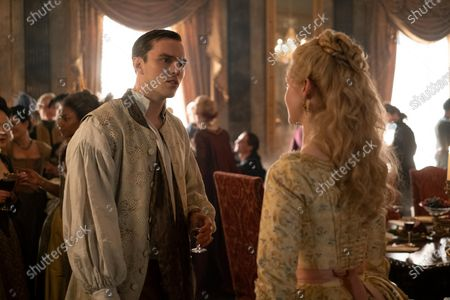 Nicholas Hoult as Peter and Elle Fanning as Catherine