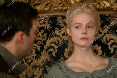 Stock Photo of Nicholas Hoult as Peter and Elle Fanning as Catherine