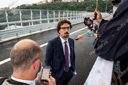 Stock Image of Former Infrastructure Minister Danilo Toninelli