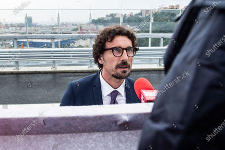 Editorial picture of Inauguration ceremony of the new San Giorgio bridge in Genoa, Italy - 03 Aug 2020
