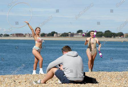 Redaktionelles Foto von Zippos Circus reopens, Southsea, Portsmouth, UK - 04 Aug 2020