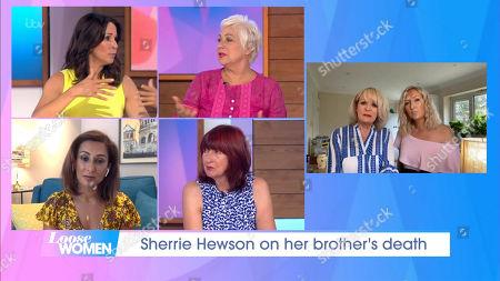 Andrea McLean, Denise Welch, Saira Khan, Janet Street-Porter, Sherrie Hewson and daughter Keely