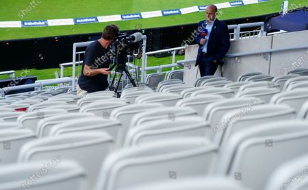 Stock Picture of Former Elgnaldn captain Nasser Hussain working for Sky Sports