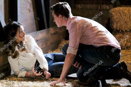 Stock Image of Chloe Bennet as Agent Daisy Johnson and Thomas E. Sullivan as Nathaniel Malick