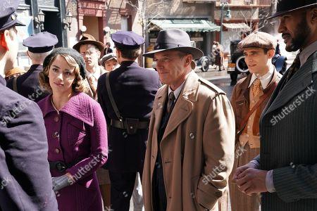 Chloe Bennet as Agent Daisy Johnson, Clark Gregg as Phil Coulson and Jeff Ward as Deke Shaw