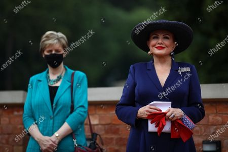US Ambassador to Poland Georgette Mosbacher (R) during the meeting in Krakow, Poland, 04 August 2020. During the meeting, the location of the forward American command structure in Poland, responsible for ensuring proper command and cooperation with American and European allies, was confirmed.