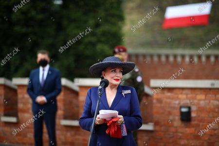 US Ambassador to Poland Georgette Mosbacher (R) during the meeting in Krakow, Poland, 04 August 2020. During the meeting, the location of the forward American command structure in Poland, responsible for ensuring proper command and cooperation with American and European allies, was confirmed. Defence Minister Mariusz Blaszczak said in Krakow, southern Poland, on Tuesday that placing the forward command of the 5th US Army Corps in Poland is the crowning achievement of efforts to increase the American military presence in Poland.