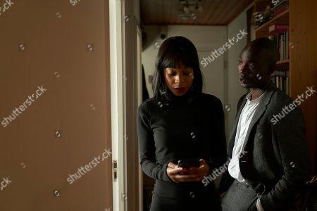 Stock Photo of Pippa Bennett-Warner as Kay and Paapa Essiedu as Michael