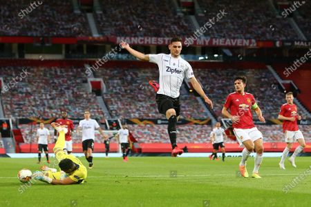 Editorial photo of Manchester United v LASK, UEFA Europa League Round of 16 2nd Leg, Football, Old Trafford, Manchester UK - 05 Aug 2020