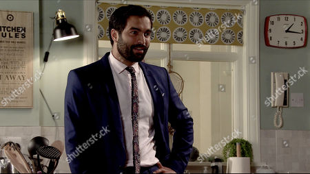 Coronation Street - Ep 10099 Monday 10th August 2020 Toyah Battersby tells Imran Habeeb, as played by Charlie de Melo, about meeting up with Karen the social worker. Karen has promised to put the fostering wheels in motion once she's received the reference from Leanne.