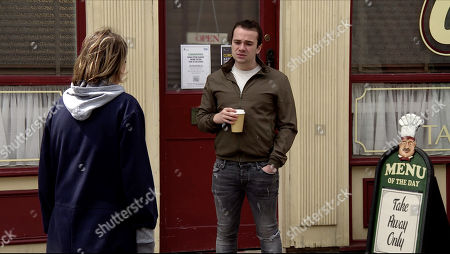 Coronation Street - Ep 10101 Friday 14th August 2020 Abi Franklin, as played by Sally Carman, tells Seb Franklin, as played by Harry Visinoni, that she now realises she has to say goodbye to the twins before they leave and begs him to speak to the social worker on her behalf.