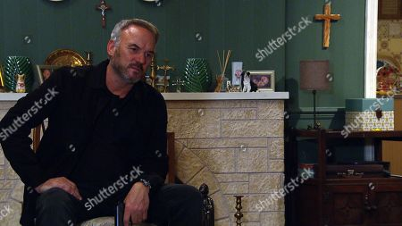 Emmerdale - Ep 8823 Monday 17th August 2020 Malone, as played by Mark Womack, intimidates Dawn Taylor telling her that her testimony against him has been taken as false. Dawn tries to act cool, but when Malone produces a wrap of heroin and syringe from his pocket, Dawn backs away in horror.