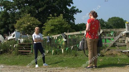 Emmerdale - Ep 8821 Wednesday 12th August 2020 It is not long before the penny finally drops for Leyla Harding who her tormentor is - Belle Dingle, as played by Eden Taylor-Draper. Also Pictured - Lydia Hart, as played by Karen Blick.