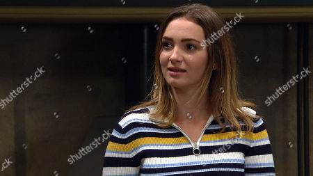 Emmerdale - Ep 8825 Friday 21st August 2020 Leyla Harding offers Gabby Thomas, as played by Rosie Bentham, an apprenticeship at Take a Vow, and Gabby, realizing Leyla's serious, feels touched.