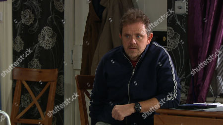 Emmerdale - Ep 8825 Friday 21st August 2020 Dan Spencer's, as played by Liam Fox, panicking as he tries to keep his financial troubles a secret from Amelia Spencer.