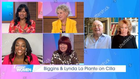 Stock Photo of Ranvir Singh, Gloria Hunniford, Judi Love, Janet Street-Porter, Christopher Biggins and Lynda La Plante