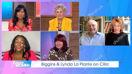 Stock Image of Ranvir Singh, Gloria Hunniford, Judi Love, Janet Street-Porter, Christopher Biggins and Lynda La Plante