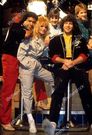 MTV Presenters J.J. Jackson, Nina Blackwood, Martha Quinn, Mark Goodman and Alan Hunter