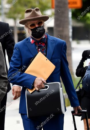 Stock Image of Michael Lockwood arrives at the Stanley Mosk Courthouse for the third day of his divorce trial with Lisa Marie Presley, in Los Angeles. Presley and Lockwood wed in 2006 and filed for divorce in 2016