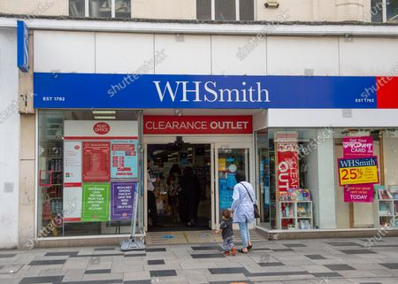 Stock Photo of It was announced today that High Street stationers WH Smith are considering cutting 11% of their workforce which could result in the loss of 1,500 jobs following the impact of the Coronavirus lockdown. The job losses are expected to be at their stores at railway stations and airports