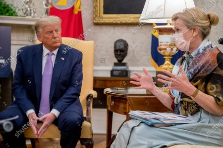 Dr. Deborah Birx, White House coronavirus response coordinator, speaks as President Donald Trump meets with Arizona Gov. Doug Ducey in the Oval Office of the White House in Washington