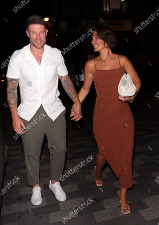 Stock Image of Frankie Bridge and Wayne Bridge arriving at Sexy Fish for Wayne's 40th birthday