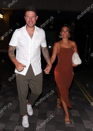 Stock Picture of Frankie Bridge and Wayne Bridge arriving at Sexy Fish for Wayne's 40th birthday