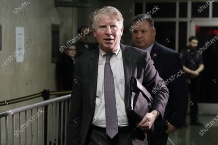 Manhattan District Attorney Cyrus Vance Jr. leaves court, in New York. Vance, the New York prosecutor who has been fighting to get President Donald Trump's tax returns, got Deutsche Bank in 2019 to turn over other Trump financial records