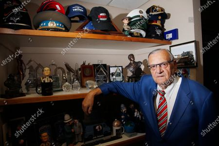 Stock Photo of Former Maricopa County Sheriff Joe Arpaio poses for a photograph in his office as he is running for the position of Maricopa County Sheriff again, in Fountain Hills, Ariz. Arpaio is trying to win back the sheriff's post in metro Phoenix that he held for 24 years, in what Arpaio acknowledges could be his last political race
