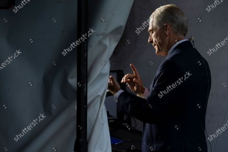 Peter Navarro, Director of Trade and Industrial Policy and Director of the White House National Trade Council speaks during a television interview outside the White House in Washington D.C., U.S.,.