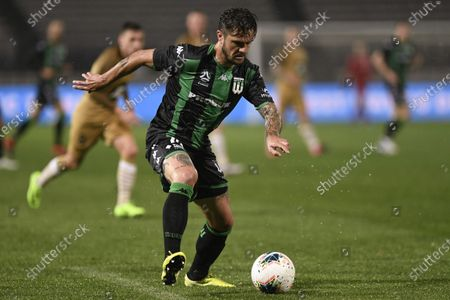 Josh Risdon of Western United makes a run into the box; Jubilee Oval, Sydney, New South Wales, Australia; A League Football, Western United FC versus Western Sydney Wanderers.