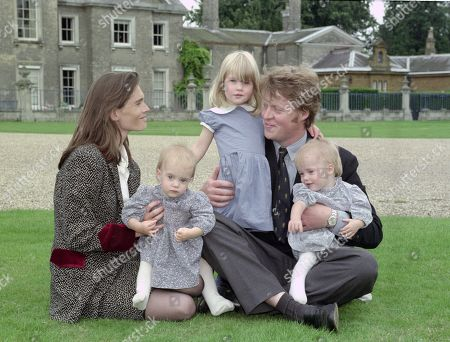 Earl Spencer, Earl Spencer, pictured with his first wife Victoria Aitken and their three children Kitty [standing]; Eliza and Amelia